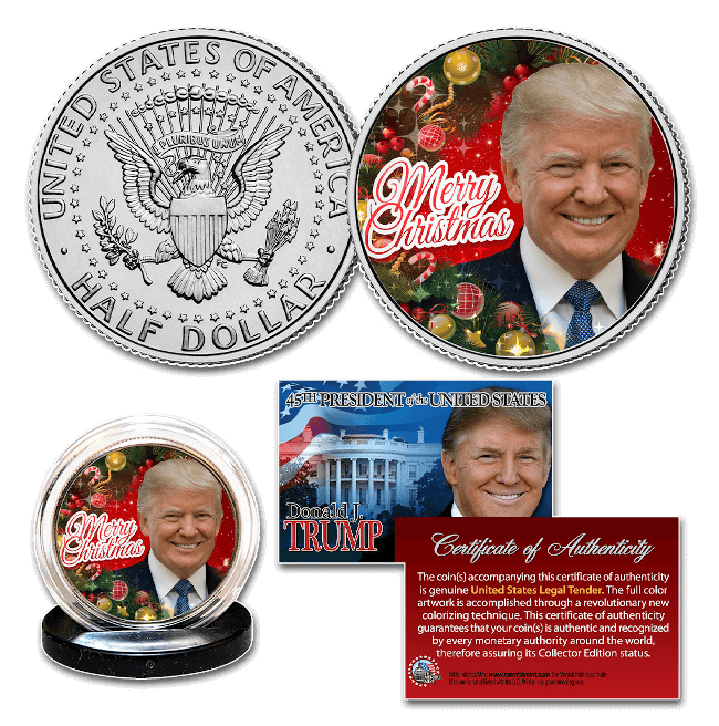 Free Trump Coin Merry Christmas