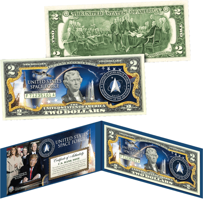 Trump Space Force $2 Bill