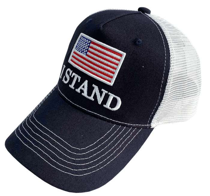 I Stand American Flag Hat