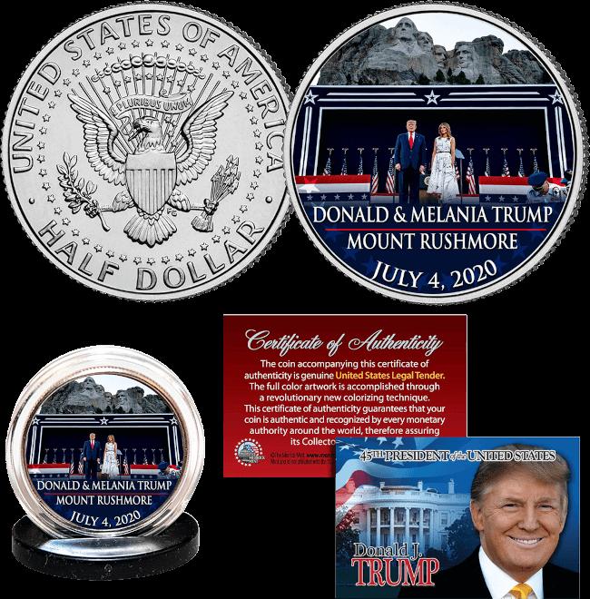 Free Trump Mt. Rushmore Coin