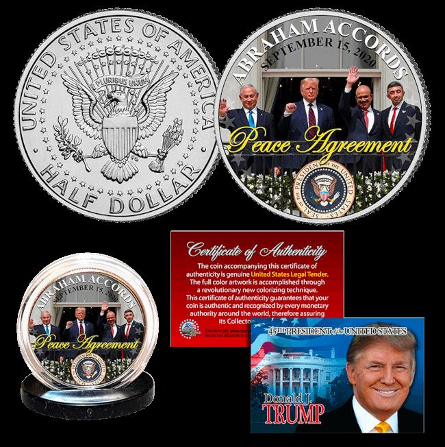 Trump Abraham Accords Peace Coin