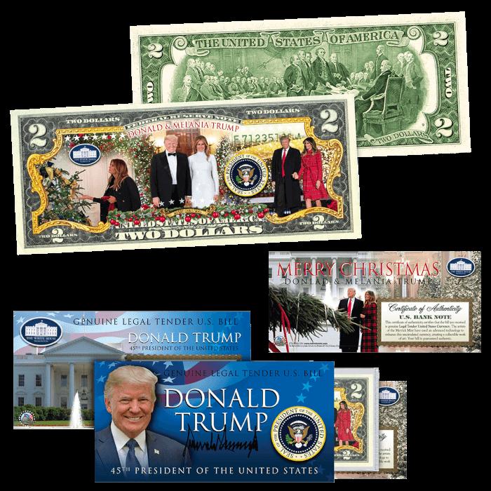 Trump 2020 Christmas 2 Dollar Bill