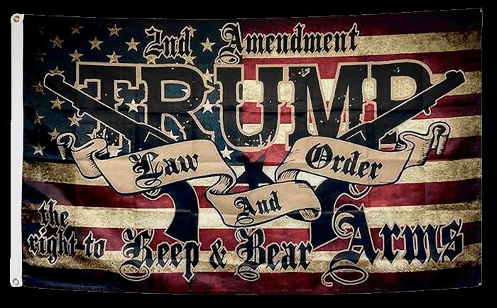 Trump Guns 2A Flag