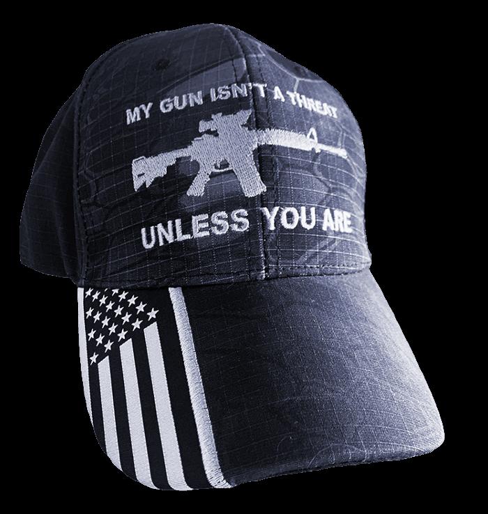 My gun isn't a threat 2A hat