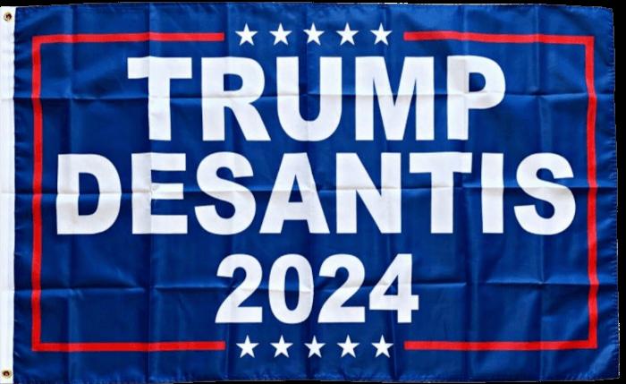 Trump Desantis 2024 flag